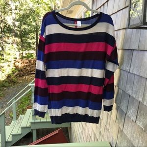 Divided | H&M Oversized Cotton Striped Sweater S